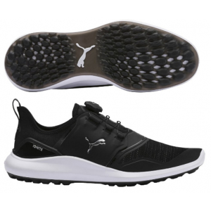 Puma IGNITE NXT DISC Golf Shoe - Black/Silver/White