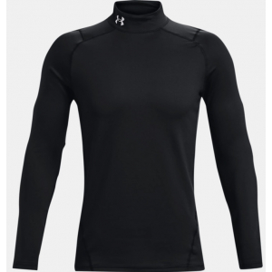 Under Armour Mens Coldgear Armour Fitted Mock - Black 001