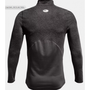 Under Armour Mens Coldgear Armour Fitted Mock - Charcoal Light Heather (020)