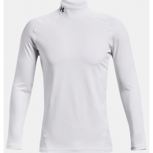 Under Armour Mens Coldgear Armour Fitted Mock - White (100)