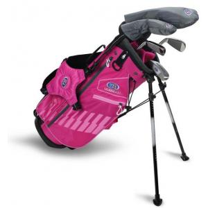 U.S Kids Golf UL48-s 5 Club Stand Set - Pink/Pink - Left Hand