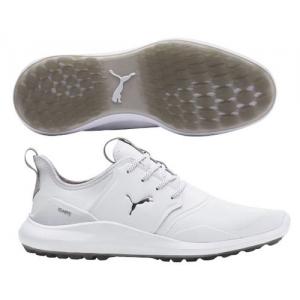 Puma IGNITE NXT PRO Golf Shoe - White/Silver/Grey