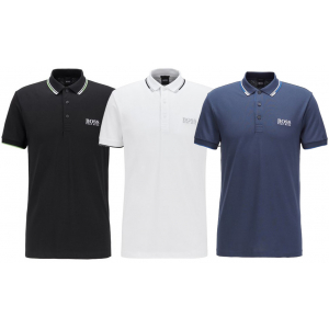 Hugo Boss Regular Fit Pique Polo Shirt With Quick-Dry Technology - Group