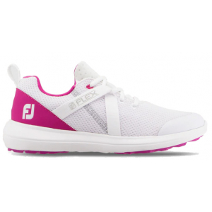 FootJoy Flex Women's Golf Shoe - White/Fuschia