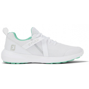 FootJoy Flex Women's Golf Shoe - White/Green