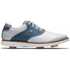 FootJoy Traditions Women's Golf Shoes - White/Blue