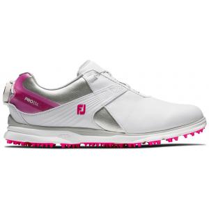 FootJoy Pro SL Boa Women's Golf Shoes - White/Silver/Rose