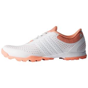 Adidas Women's adipure sport golf shoe - White/Orange