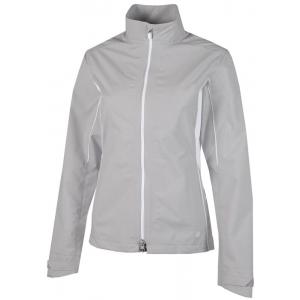 Gailvin Green Aila Waterproof Ladies Jacket - Cool Grey/White