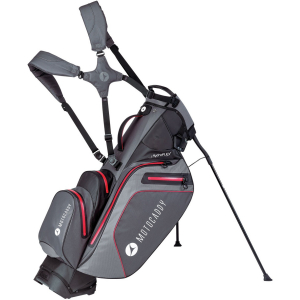 Motocaddy HydroFLEX Stand Bag-Charcoal/Red 2021