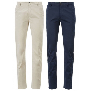 Boss Premium Slim-Fit Chinos In Diamond Brushed Stretch Cotton - Group