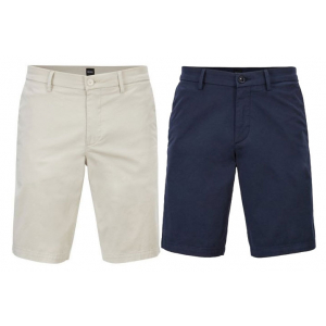 Boss Slim-Fit Shorts In Satin Touch Stretch Cotton - Group
