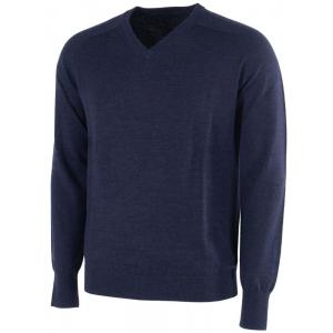Galvin Green Carl Knitted V-Neck Pullover - Navy Melange