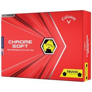 New 2020 Callaway Chrome Soft Golf Balls - Yellow