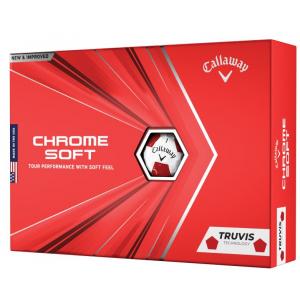 New 2020 Callaway Chrome Soft Golf Balls - Red
