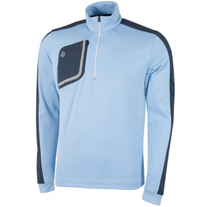 Galvin Green Dwight 1/2 Zip Pullover in INSULA - Blue Bell/Navy/White