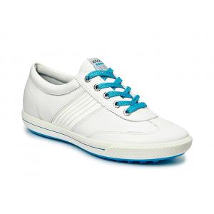 White/Danube - Ecco Women's Street Golf Shoes