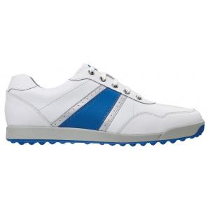 9.5UK (44 EUR)  #54335k White/Blue/Silver - FootJoy Contour Casual Golf Shoes