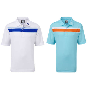 FootJoy Junior Smooth Pique with Double Chest Stripe