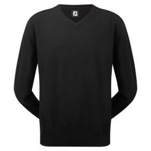Black - FootJoy Lambswool V-Neck Pullover #95370