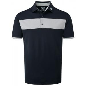 FooyJoy Pique Heather Pieced Stripe Polo Shirt - 92419