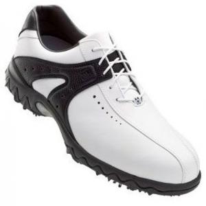 FootJoy Contour Series Golf Shoe Size 7.5 White/Black (54175)