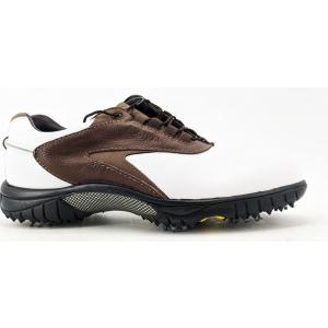 FootJoy Contour Series Golf Shoe Size 8.5 White/Brown/Taupe (54239)