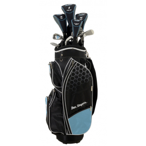 Ben Sayers Youth/Ladies M8 6-Club Package Set - Turquoise Cart Bag
