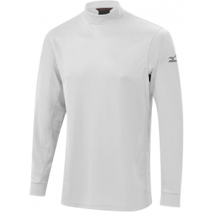 Mizuno Warmalite Thermal Mock Longsleeve Pullover - White