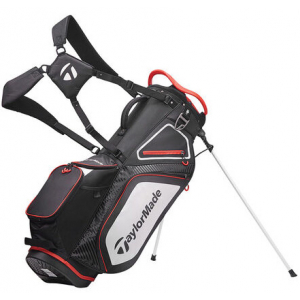 TaylorMade Pro 8.0 Stand Bag - Black/White/Red