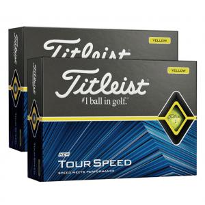 Titleist Tour Speed Yellow Golf Balls - 24 Ball Pack (FREE Camelbak Water Bottle)