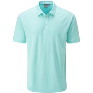 PING Preston Men's Golf Polo Shirt - Blue Water Multi