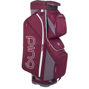 PING Traverse Ladies Cart Bag - Garnet/Heathered Grey